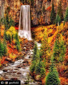 """""""TUMALO FALLS ACCESS RE-OPENS SATURDAY! #visitcentraloregon #adventurecalls #Repost @geoffo92 with @repostapp. ・・・ Tumalo  Falls,  Central Oregon…"""""""