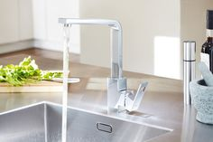 GROHE Eurocube: True square design to the kitchen #Grohefaucet & groheShower #grohe