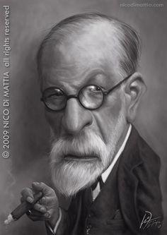 Nico Di Mattia – Caricatura.  Sigmund Freud