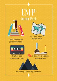ENFP Starter Kit Enfp Personality, Personality Psychology, Personality Profile, Myers Briggs Personality Types, Psychology Quotes, Philosophy Books, Myers Briggs Personalities, 16 Personalities, Enneagram Types