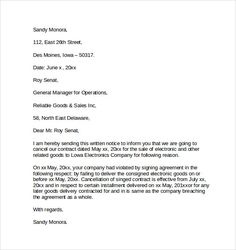 Sample Letter To Discontinue Services from i.pinimg.com