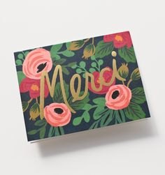 Rosa Merci Available as a Single Folded Card or a Boxed Set of 8