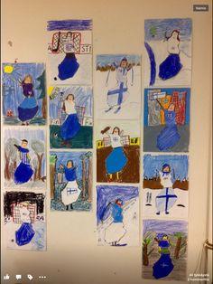 Lainattu kuva Fb Primary School Art, Elementary Art, Art School, Diy And Crafts, Crafts For Kids, Arts And Crafts, Crafty Kids, Winter Art, Teaching Art
