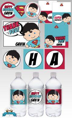 Superman Superhero Birthday Party Printable by LilFacesPrintables, $14.26