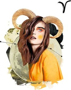 Aries♈_ Zodiac Art || Aries Art from Vogue Mexico in collaboration with Prince Lauder || trendland.com