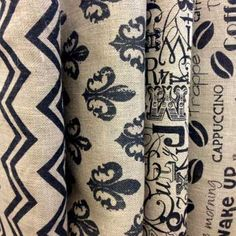 Printed burlap for table runners, pin boards, wreaths, stockings or decorative covers for your potted plants. Look for ideas on Pinterest!