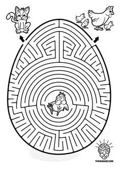Egg Maze to print