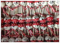 Ayyyyyy Matey...pirate themed cake pops for a baby shower