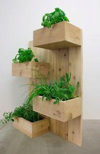THE four squares-vertical garden plant stand vertical planting planter Cedar wall planting herb garden
