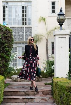 GORGEOUS FLOWERS on her dress and on the bushes! with the band // | // Atlantic-Pacific
