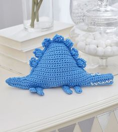 Baby Dinosaur Toy - free crochet pattern by Cassandra Bibler for Red Heart. Crochet Dinosaur Hat, Crochet Dinosaur Patterns, Crochet Patterns Amigurumi, Amigurumi Doll, Baby Patterns, Crochet Toys, Crochet Animals, Flower Patterns, Dino Toys