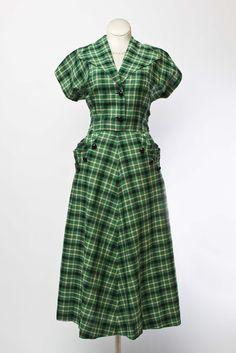 Cabaret Vintage - 1950s Cotton Plaid Day Dress, $125.00 (http://www.cabaretvintage.com/new-arrivals/1950s-cotton-plaid-day-dress/)