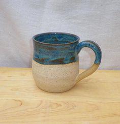 Coffee mug tea cup hand thrown in stoneware pottery