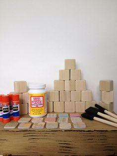 DIY Wood Baby Blocks // Baby Shower Craft // Family Craft // Childrens Blocks // Natural Wood Toy // Gender Neutral // Boy or Girl