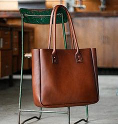 Joram Salisbury and Cameron Paterson started working with leather six years ago, making kangaroo-leather pedal straps for bicycles. Today, the pair craft top-quality totes, shoulder bags, and wallets by hand in their Australia studio, personally setting each solid copper rivet and sealing every edge with beeswax. #etsy