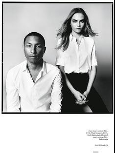 Fashion News: Born Lucky: When Cara Met Pharrell for Vogue UK