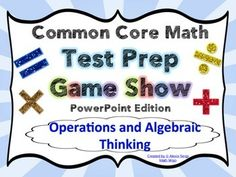 4th Grade Common Core Math Test Prep Game Show (OA) PowerPoint - Make review and test prep something to look forward to! Your students will have a blast with this game show style review. $