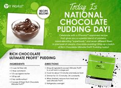Chocolate Pudding never looked better! Feed your craving and lose weight!