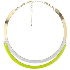 Charlotte Russe Yellow Neon Enamel Layered Choker Necklace by... (51 NOK) ❤ liked on Polyvore featuring jewelry, necklaces, yellow, yellow jewelry, polish jewelry, neon jewelry, tiered necklace and charlotte russe jewelry