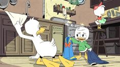 Here is show of Donald Duck and Louie along with Huey from Ducktales Louie have pulled off Donald Duck's blue sailor uniform for a collared shirt . 2017 Background, Disney Background, Cartoon Background, Animation Series, Disney Animation, Three Caballeros, Disney Ducktales, Scrooge Mcduck, Duck Tales