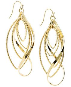 INC International Concepts Earrings, Gold Tone Twist Earrings - All Fashion Jewelry - Jewelry & Watches - Macy's