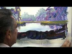 How To Paint Autumn Landscape With Acrylics Painting Class Instruction by Ben Saber - YouTube