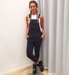 """Topshop Personal Shopping on Instagram: """"We're loving @twisthannah's laid back look in this season's staple dungarees. #dungarees #overalls #denim #personalshopper #ootd #stylist"""""""