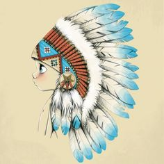Little boy with chief hat