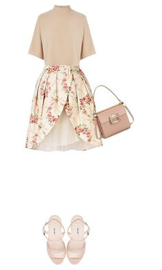 """""""Cherry blossom"""" by hajra-m ❤ liked on Polyvore featuring Manoush, Warehouse and Miu Miu"""