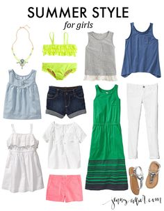 Summer style for girls, but in smaller sizes Girl Outfits, Summer Outfits, Little Fashionista, Back To School Outfits, My Princess, Summer Wardrobe, Kids Fashion, Banana, Style Inspiration