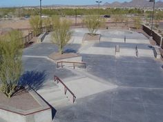 Yep, there's a skate park in North Scottsdale, and like most things in the area, it's pretty new. At square feet, it's not the biggest skating sp. Skate 3, Skate Park, Parking Design, Patio Design, Skateboarding, Installation Art, Landscape Architecture, High Quality Images, Backyard