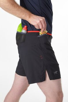 Running shorts. Men. Long distance. Pockets. Take everything with you. Run. Enjoy the trail.
