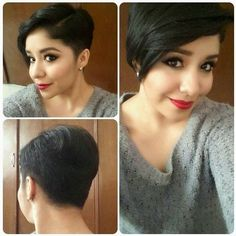 Long pixie hairstyles are a beautiful way to wear short hair. Many celebrities are now sporting this trend, as the perfect pixie look can be glamorous, elegant and sophisticated. Here we share the best hair styles and how these styles work. Pixie Haircuts 2015, Short Hairstyles 2015, Short Layered Haircuts, Haircuts With Bangs, Popular Haircuts, Hairstyles With Bangs, Haircut Short, Medium Haircuts, Very Short Hair