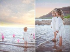 Amie Pendle Photography » blog children portraits, little girl fashion, girls, outdoor, lake, beach, natural light, pink