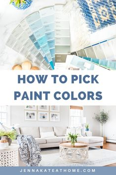 Picking the right paint colors for your home shouldn't require a degree! These simple tips will ensure you choose the right color, the first time so that you can start enjoying the decorating process sooner! #paintideas #paintcolors #homedecor #jennakateathome