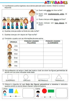 ATIVIDADES PARA EDUCADORES: 2º Ano - ATIVIDADES MATEMÁTICAS Lets Play, Pretend Play, Activities For Kids, Homeschool, Classroom, Let It Be, Teaching, Math, Blog