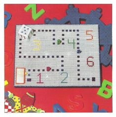 Digital Pattern Kids Quick and Easy Board Game 7 ct Plastic Canvas Memory Games For Kids, Board Games For Kids, Kids Board, Plastic Canvas Crafts, Plastic Canvas Patterns, Learning Toys For Toddlers, Game 7, Different Games, Canvas Board