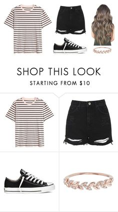 """Untitled #1234"" by shealin ❤ liked on Polyvore featuring H&M, Topshop, Converse and Accessorize"