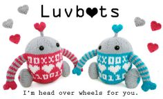 Luvbots in love! by Mochimochi Land, via Flickr