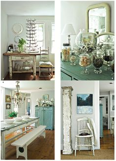 Dining room shabby chic rustic french country swedish decor idea