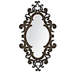 Gorgeous laser cut metal mirror. It's almost 4 feet tall so it makes quite a statement! $130.