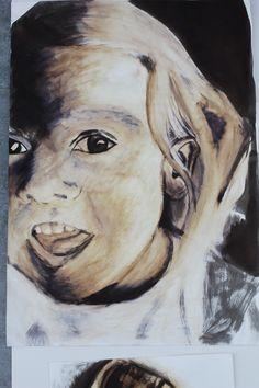 Matilda in quink and bleach, development for my folio.