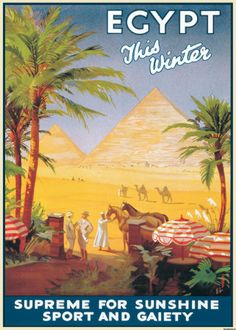 Vintage travel poster, Egypt