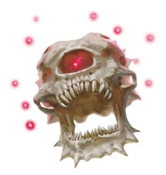 Beholder, Death Tyrant (from the D&D fifth edition Monster Manual). Art by Kieran Yanner.