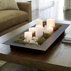 Candle Centerpiece with Rocks and Succulents Grote ramen, kleine ramen, voor elk raam kun je