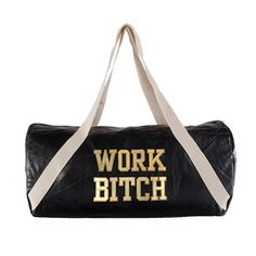 """A gym bag   Britney Spears Is Selling Merchandise With """"B**ch"""" Written All Over It """"if you want a $125 gym bag, you better work, bitch"""""""