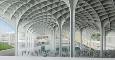 Forest museum of worship an interior cultural landscape foa Architecture Panel, Islamic Architecture, Modern Architecture House, School Architecture, Architecture Details, Interior Architecture, Arch Building, Airport Design, Design Palette