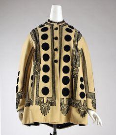 Jacket Date: 1860s Culture: American Medium: wool, silk Accession Number: C.I.63.7.2