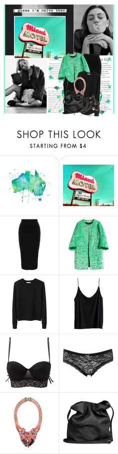 """""""No one can find the rewind button girl so cradle your head in your hands and breathe, just breathe"""" by winfreda ❤ liked on Polyvore featuring Australia Luxe Collective, Retrò, H&M, Organic by John Patrick, Charlotte Russe and Ann Demeulemeester"""
