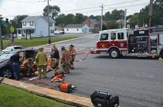 Picture of a Motor Vehicle Accident That Occured Yesturday Afternoon in Baltimore County Maryland on Belair Road at Taylor Avenue